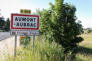 Panneau entrée Aumont-Aubrac