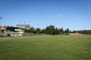Terrain de foot à Aumont-Aubrac